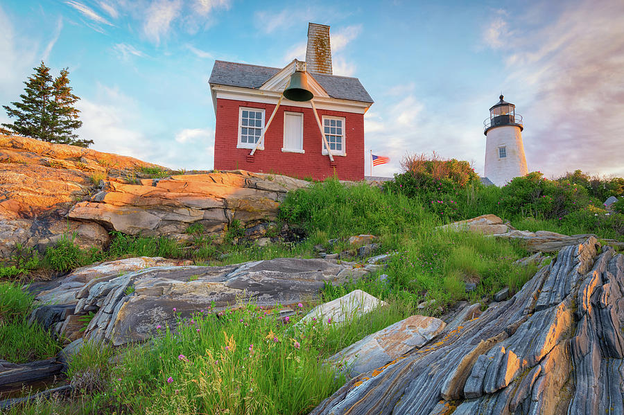 Dawn Breaking at Pemaquid Point Lighthouse by Kristen Wilkinson