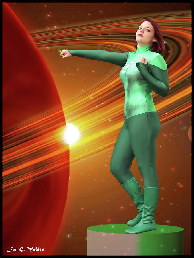 Green Photograph - Dawn Of The Green Lantern by Jon Volden