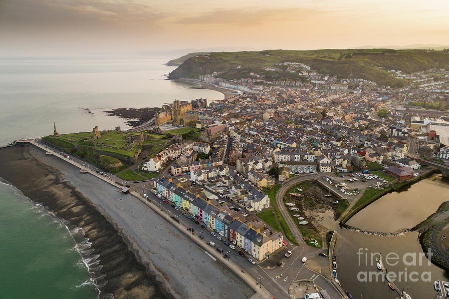 Aberystwyth Photograph - Dawn Over Aberystwyth Wales by Keith Morris