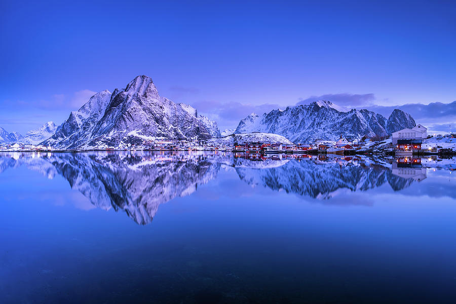 Dawn over Reine by Michael Blanchette