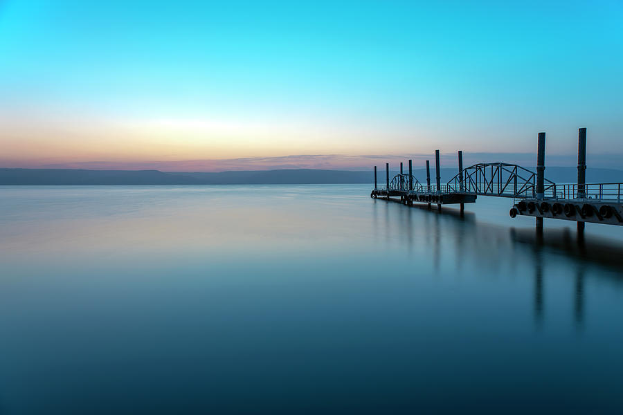 Dawn over the Sea of Galilee 1 by Dubi Roman