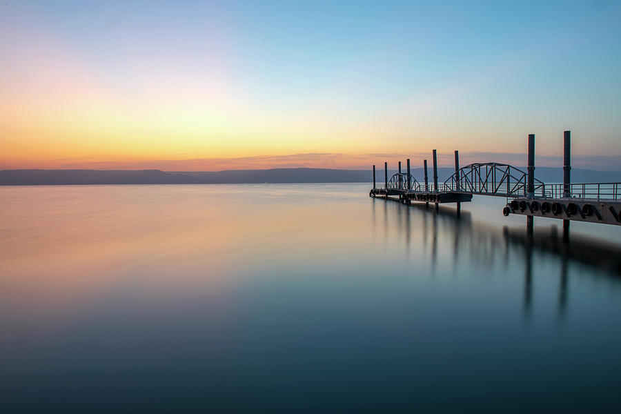 Dawn over the Sea of Galilee 2 by Dubi Roman
