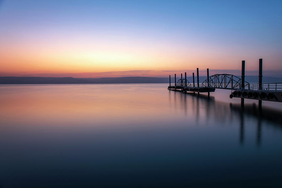 Dawn over the Sea of Galilee 3 by Dubi Roman