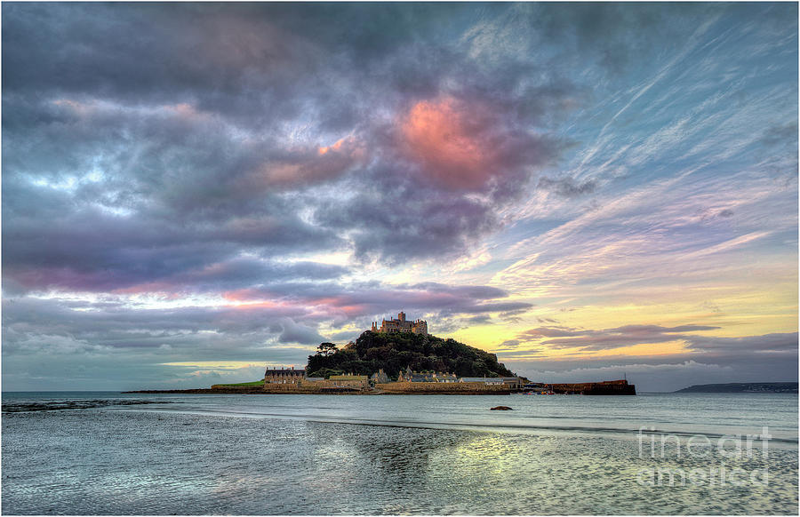 Dawn, St. Michaels Mount, Penzance Photograph by Southern Lightscapes-australia