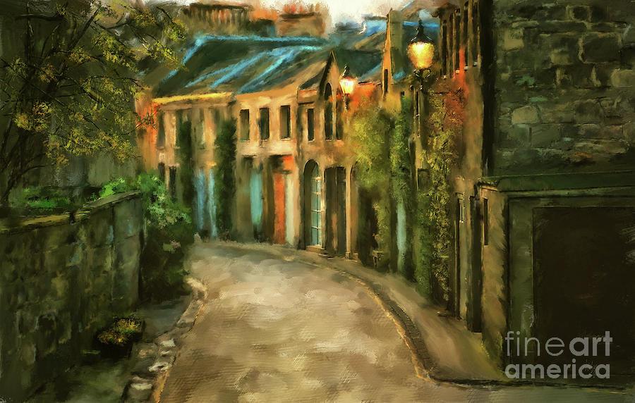 Scotland Digital Art - Dawn Takes Edinburgh by Lois Bryan