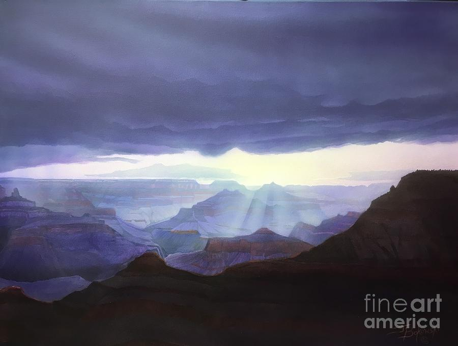 Grand Canyon National Park Painting - Dawns Early Light by Jerry Bokowski