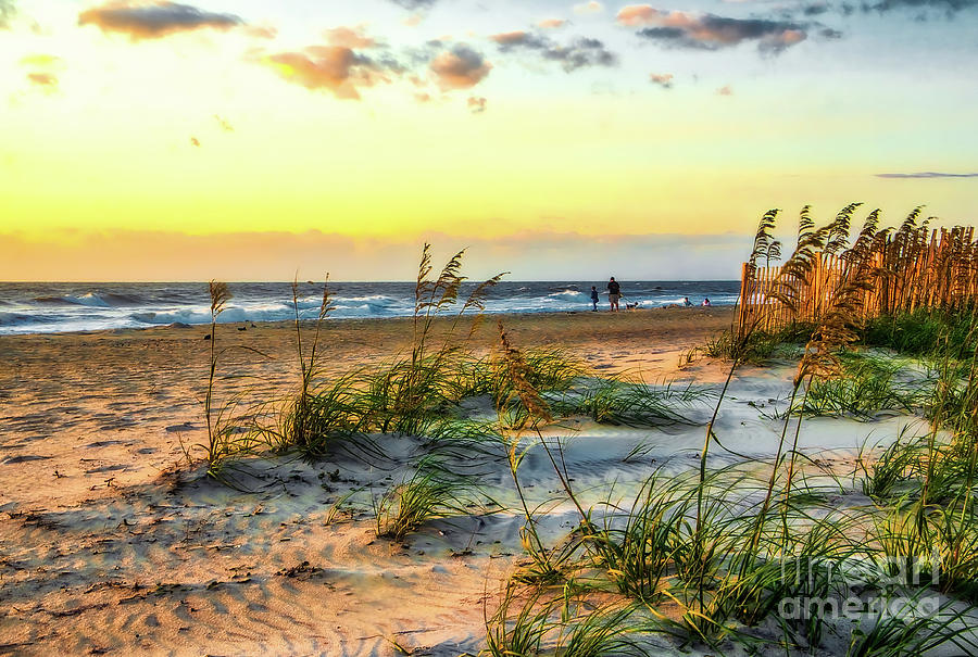 Hdr Photograph - Day At The Beach by James Foshee