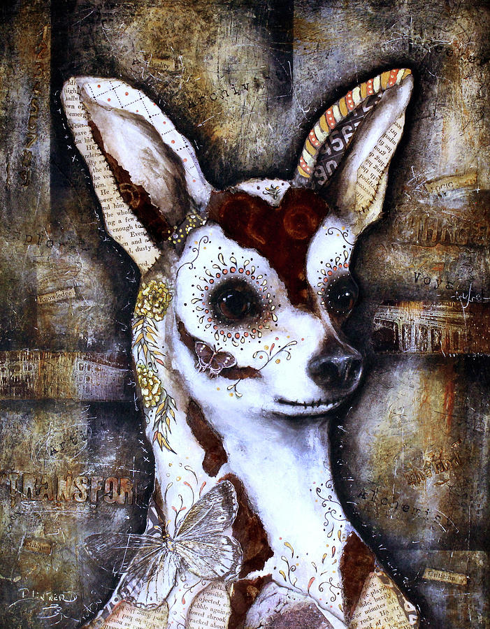 Day of the Dead Chihuahua by Patricia Lintner