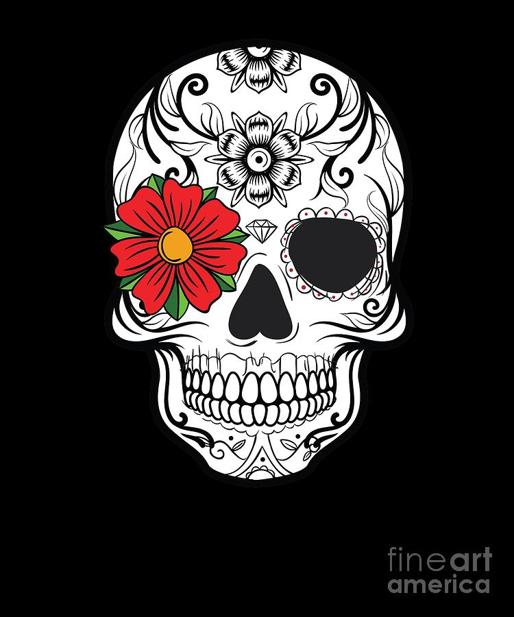 Day Of The Dead Skull Graphic Calavera Cinco De Mayo Design Digital Art By Dc Designs Suamaceir