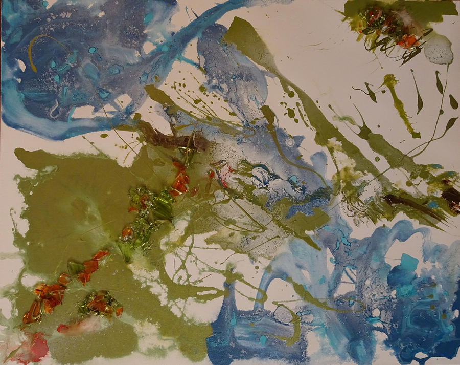Abstract Painting - Day Three by Laura Gabel
