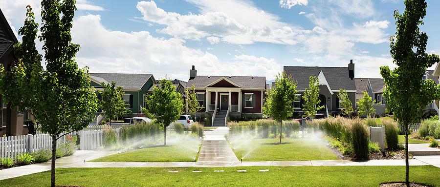 Neighborhood, South Jordan, Utah by Andy Romanoff