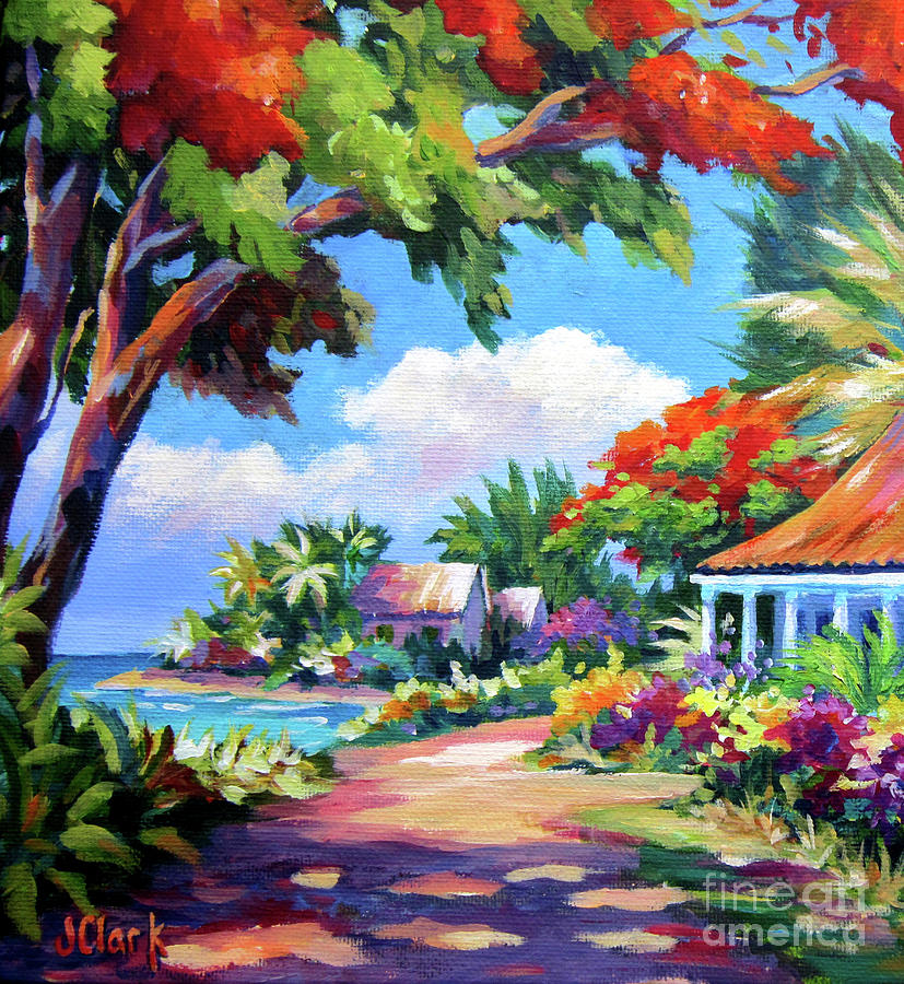 Cayman Painting - Daylight And Shade by John Clark