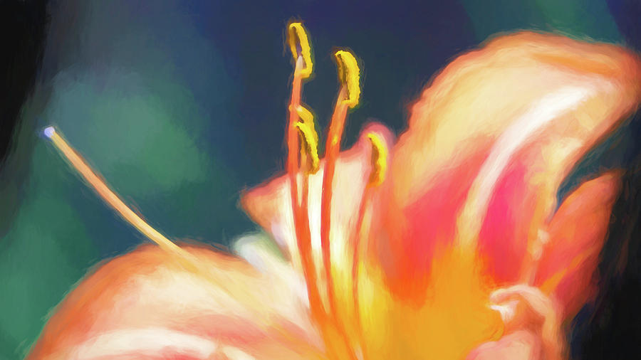 Daylily Stamen Watercolor by Jason Fink