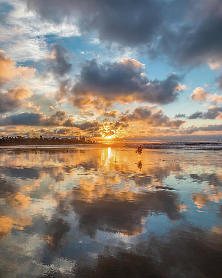 Beach Photograph - Days End by Peter Tellone