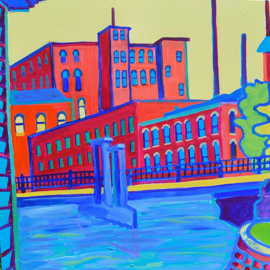 City Painting - Days in the Waterways by Debra Bretton Robinson