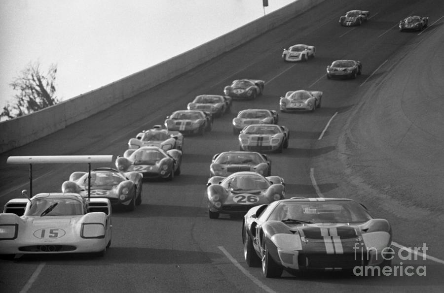 Daytona 24 Hour Endurance Auto Race Photograph by Bettmann