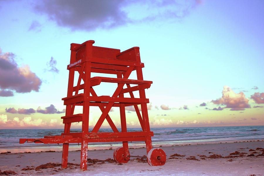 Daytona Beach Lifeguard Stand At Photograph by Thomas Damgaard Sabo, Damgaard Photography