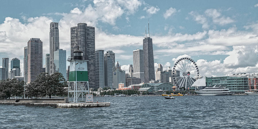 Chicago Photograph - Dazzling Day Navy Pier Chicago by Betsy Knapp