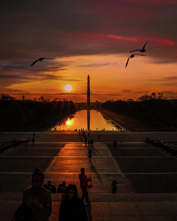 Washington Dc Photograph - Dc Sunrise by Chris Lord