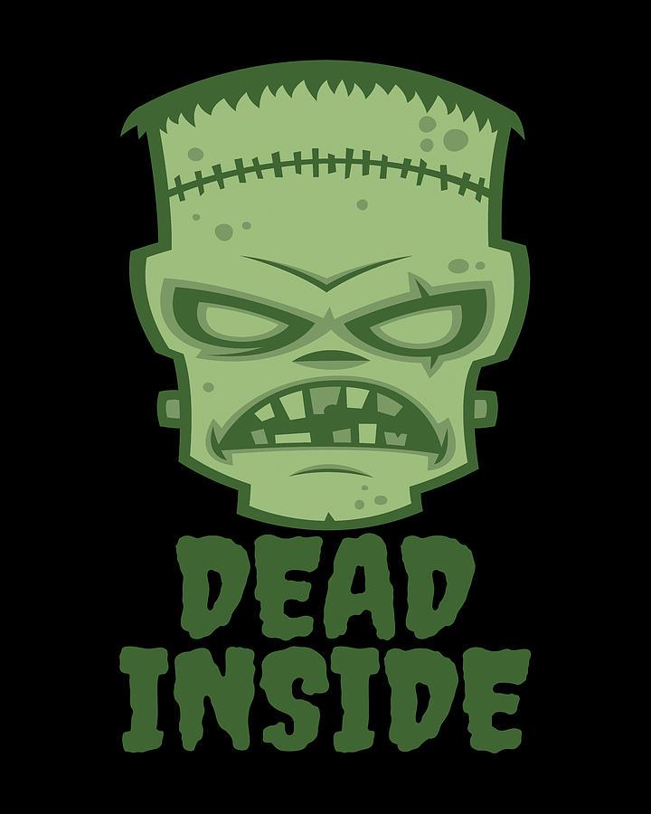 Dead Inside Frankenstein Monster Digital Art