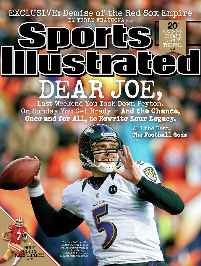 Dear Joe Joe Flacco Of The Baltimore Ravens Sports Illustrated Cover Photograph by Sports Illustrated