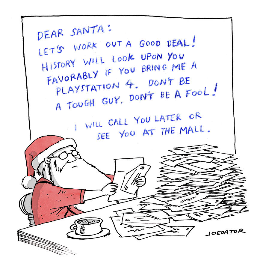 Dear Santa Drawing by Joe Dator