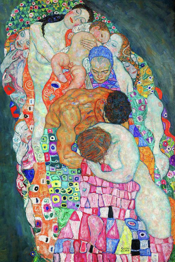 Gustav Klimt Painting - Death And Life - Life by Gustav Klimt