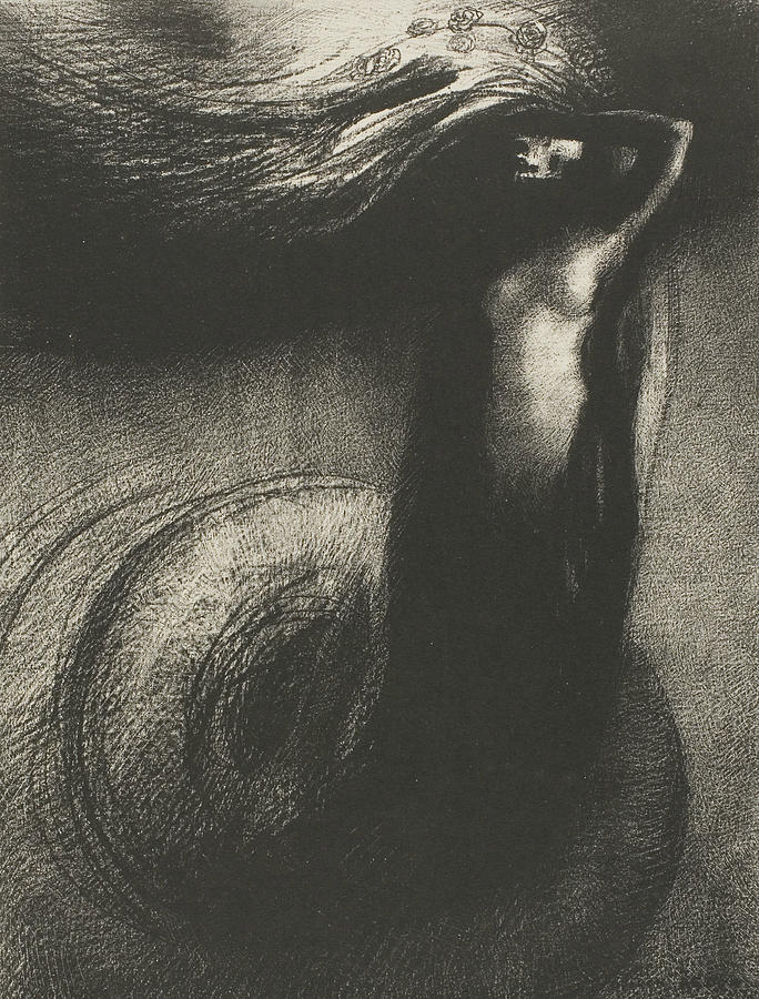 French Painters Relief - Death - My Irony Surpasses All Others by Odilon Redon