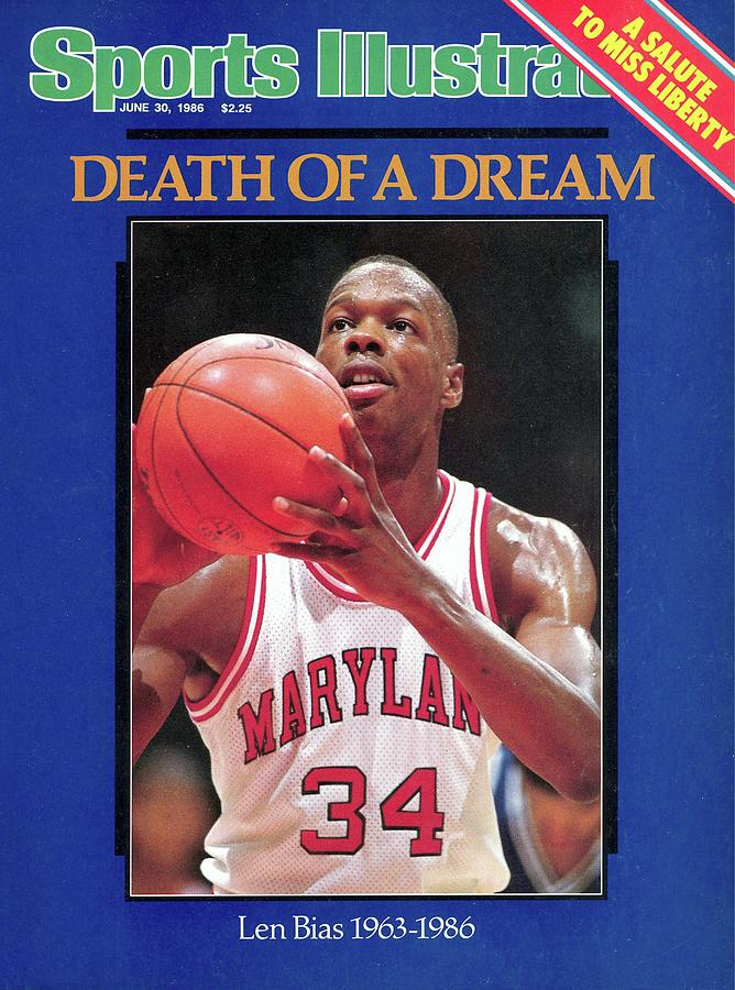 Death Of A Dream University Of Maryland Len Bias, 1963-1986 Sports Illustrated Cover Photograph by Sports Illustrated