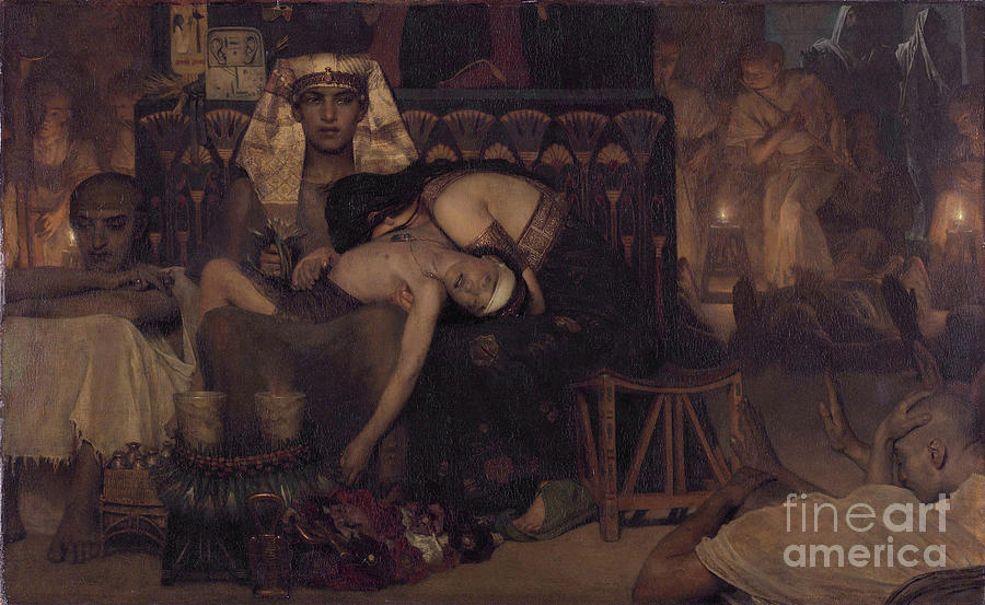 Death Of The Pharaohs Firstborn Son Drawing by Heritage Images