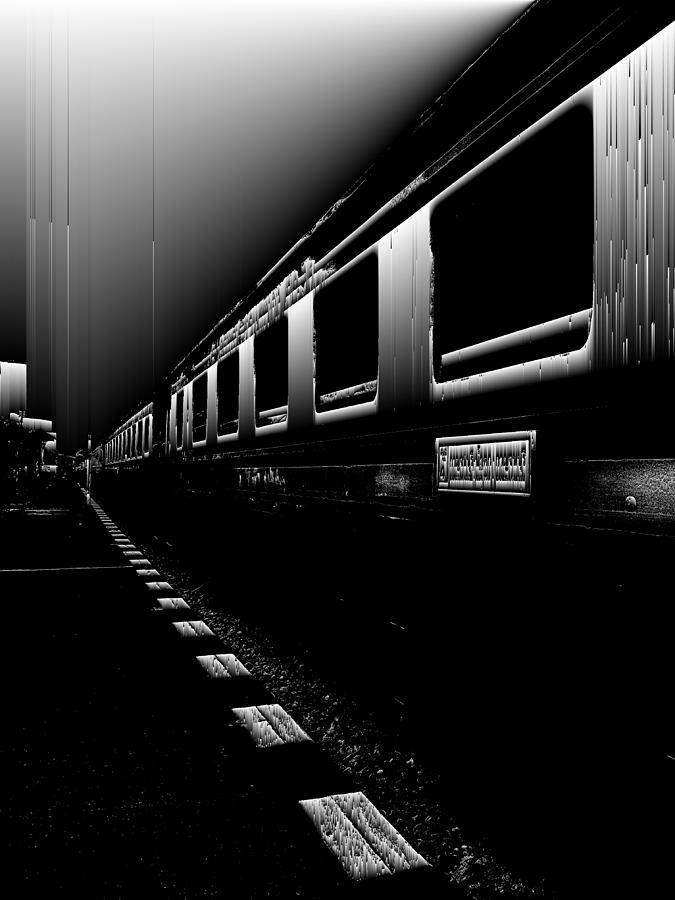 Glitch Digital Art - Death Railway by GLASSLABS by Susanne Layla Petersen