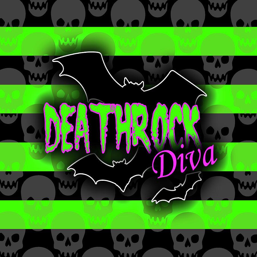Deathrock Diva Graphic by Roseanne Jones