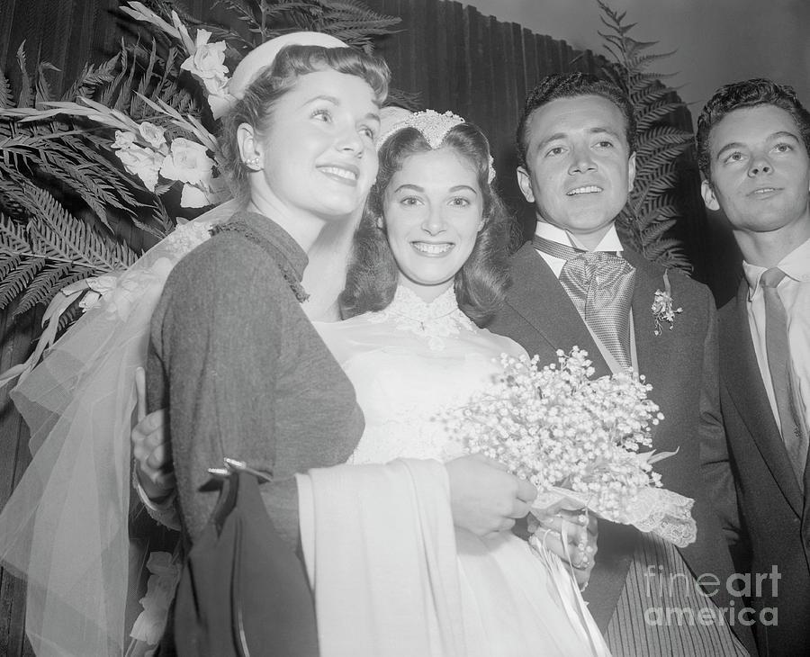 Debbie Reynolds With Pier Angeli Photograph by Bettmann