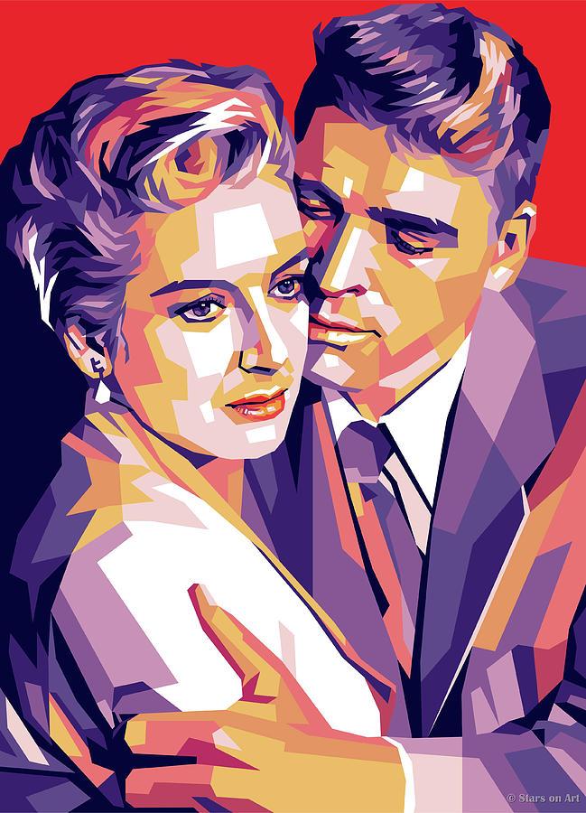 Deborah Kerr And Burt Lancaster Digital Art