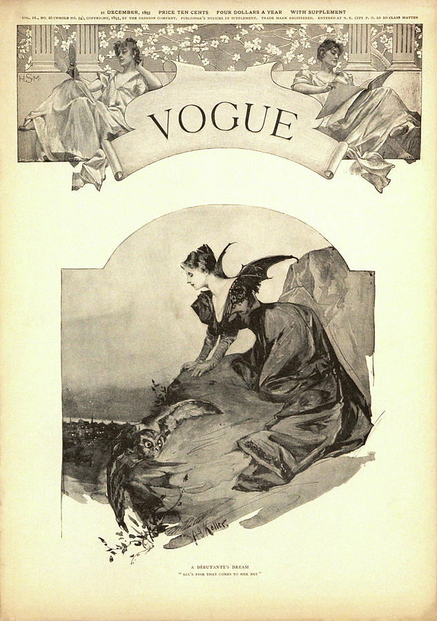 Debutante As A Predator, Vogue Drawing by A Keller