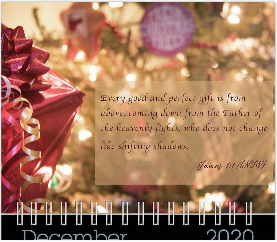 December 2020 Inspirational Calendar Preview by Joni Eskridge
