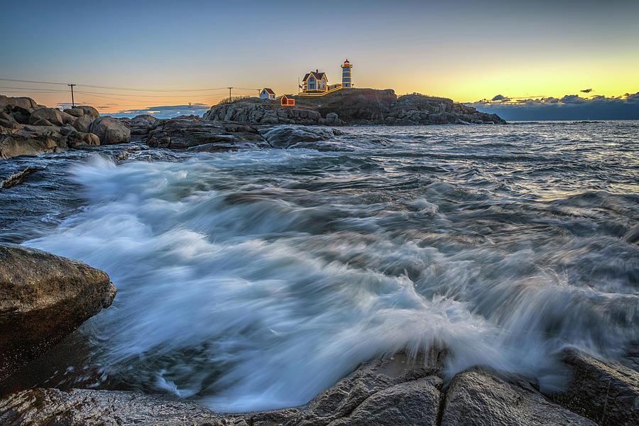 December Dawn at Cape Neddick by Rick Berk