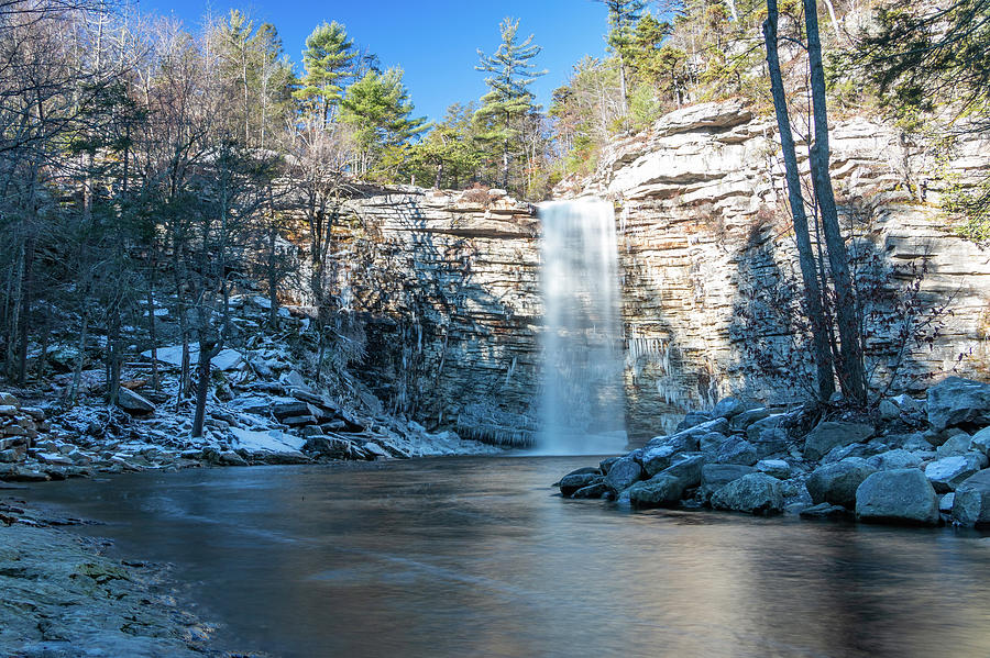 Hudson Valley Photograph - December Morning At Awosting Falls 2018 by Jeff Severson