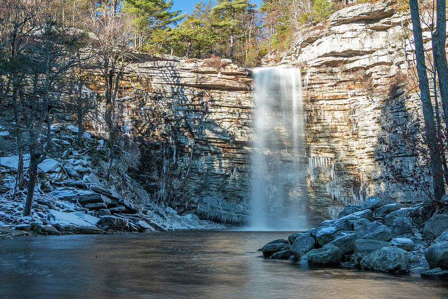 Hudson Valley Photograph - December Morning At Awosting Falls II 2018 by Jeff Severson