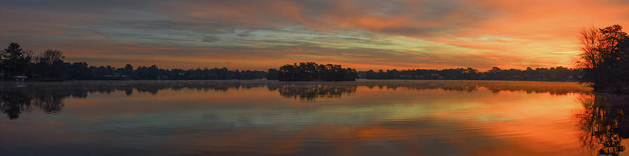 December Sunrise Over Spring Lake by Beth Sawickie