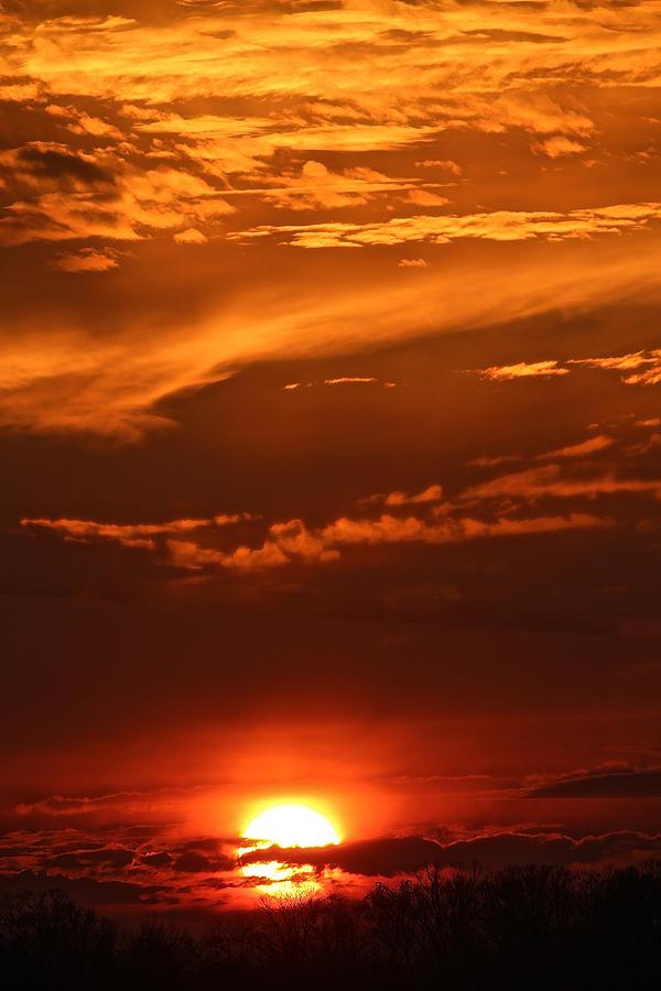 December Sunset Gettysburg by Donna Quante