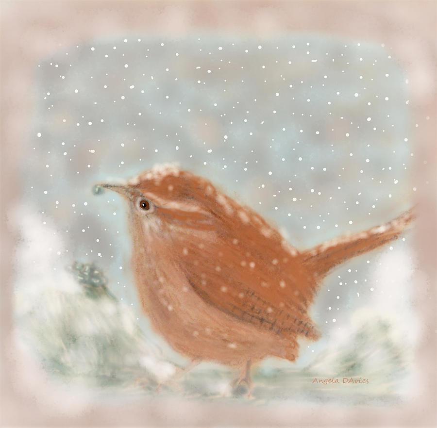 December Wren by Angela Davies