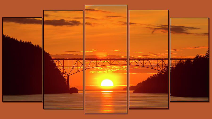 Deception Pass Sunset Panels by Tony Locke