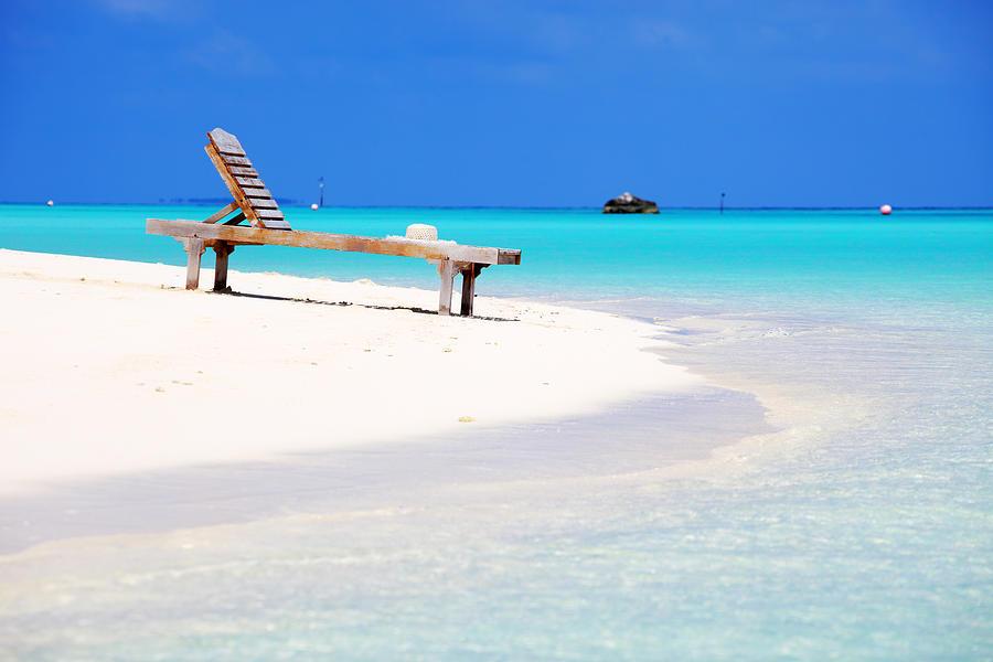 Deck Chair On The Beach Photograph by Skynesher