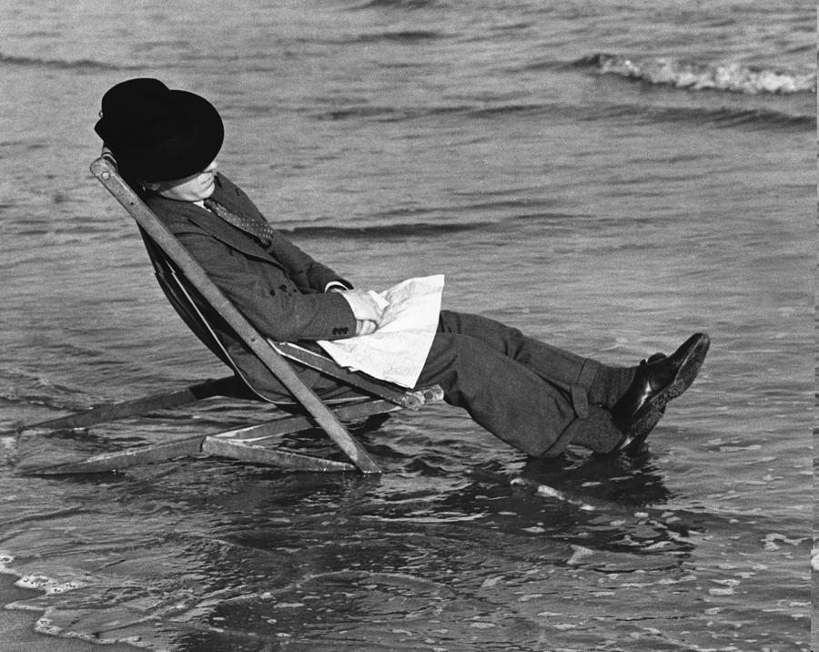 Deckchair Canute Photograph by Richards