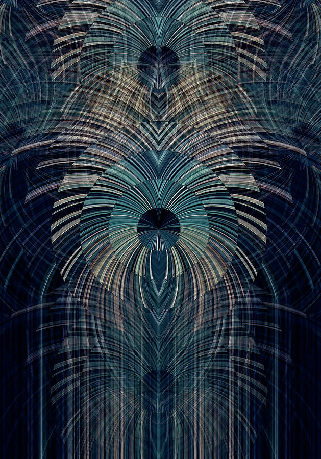Blue Digital Art - Deco Works by David Manlove