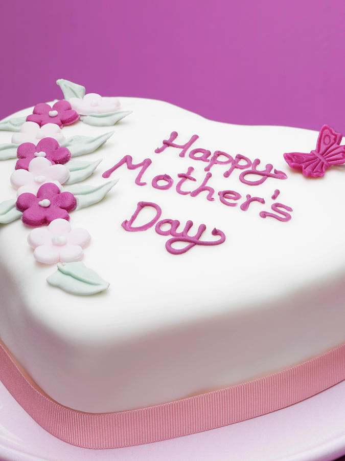 Decorated Mothers Day Cake Photograph by Diana Miller