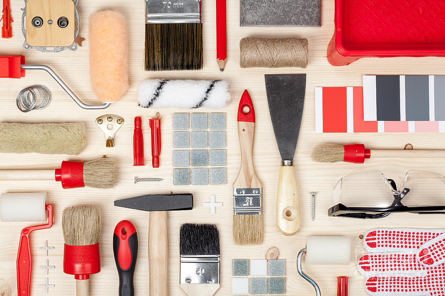 Occupation Photograph - Decorating And House Renovation Tools by 123object