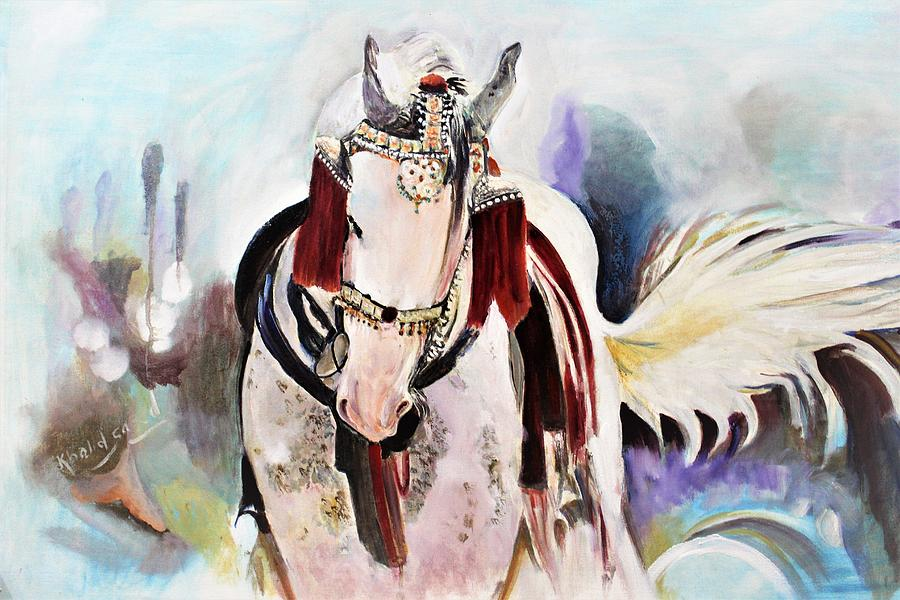 Horse Painting - Decoration Of Horse by Khalid Saeed
