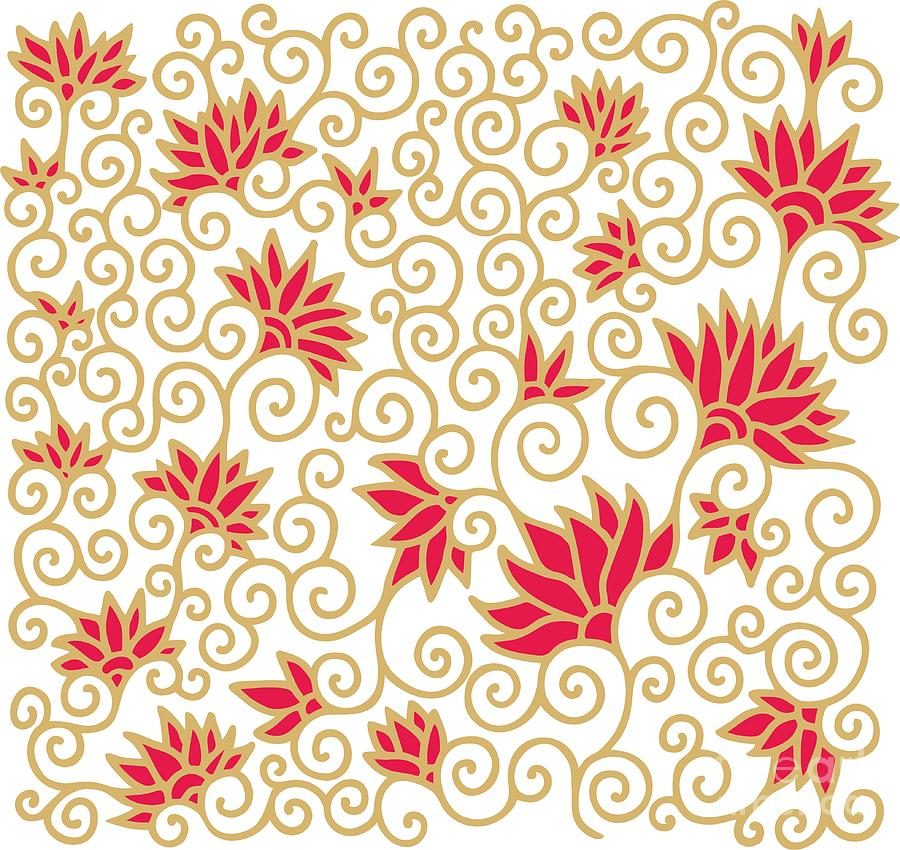 Deco Digital Art - Decorative Floral Composition With by Aniana